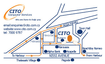 CITO Agia Napa Map